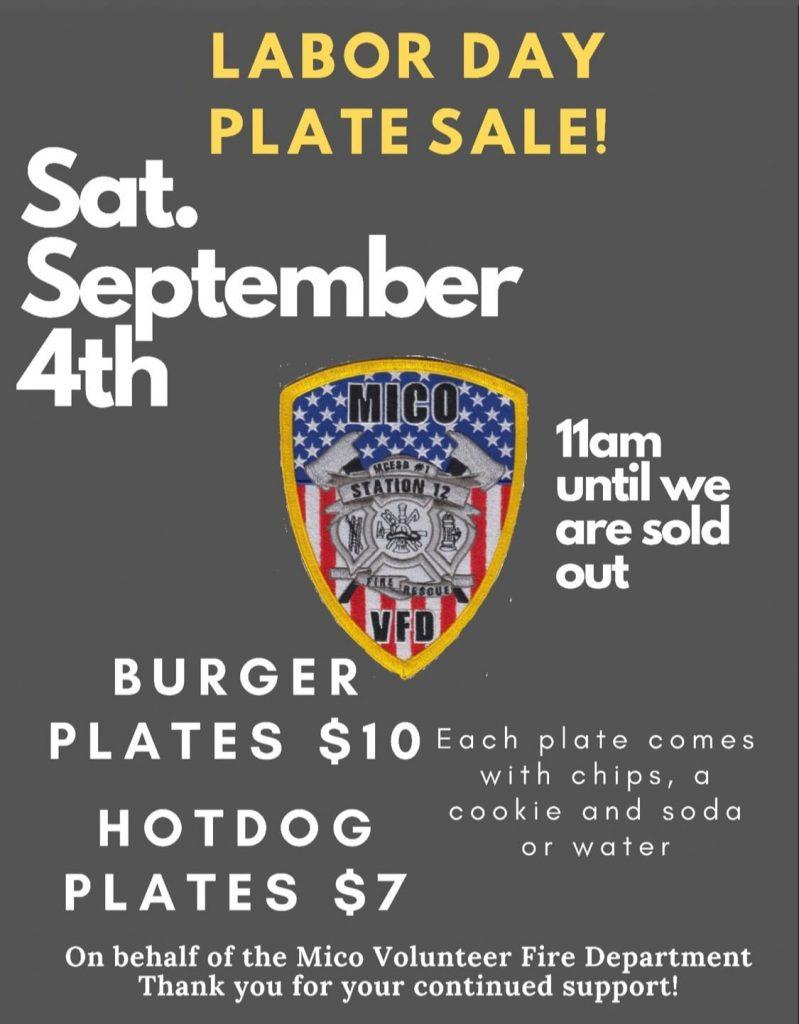 MicoVFD Labor Day Plate Sale